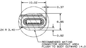 Lightning connector the iphone wiki lightning connector mechanical drawing front cheapraybanclubmaster