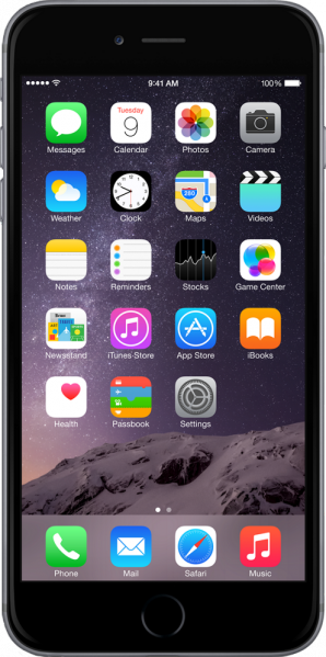 File:IPhone 6 Plus Grey.png